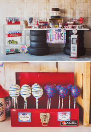 Cars Party Decorations Vintage Car Baby Shower Using Chevron Stripes Baby Shower