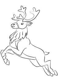 Small Picture Santa Clauss Reindeer coloring page Free Printable Coloring Pages