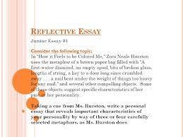 reflective essay junior essay consider the following topic reflective essay junior essay 1 consider the following topic
