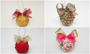 Styrofoam Ball Decorations Custom Homemade Christmas Tree Ornaments 32 Ideas With Styrofoam Balls