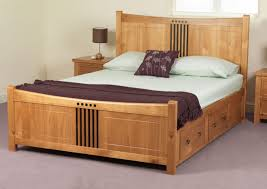 hardwood bed frame pine beds wooden frames double storage simple wood small single timber designs 6