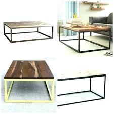 reclaimed wood and metal coffee table round with top