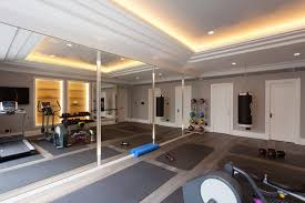 home gym lighting. exercise gym home contemporary with mirrors lighting
