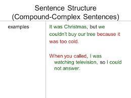 Sentence Structure (Compound-Complex Sentences) independent clause ...