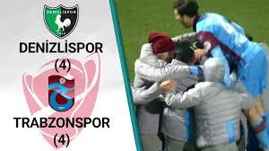 Denizlispor 2 (2) - (4) 0 Trabzonspor MAÇ ÖZETİ (Ziraat Türkiye Kupası Son  16 Turu Rövanş Maçı)