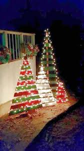 diy outdoor wooden pallet christmas trees with lights inspiration of outdoor christmas tree decorations