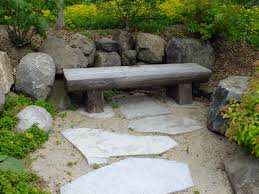 japanese garden furniture. Split Log Bench Japanese Garden Furniture