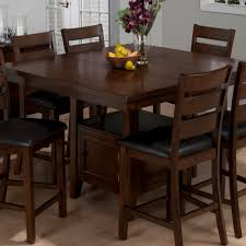 Furniture Kitchen Table Counter Height Kitchen Tables With Storage Taylor 7 Piece