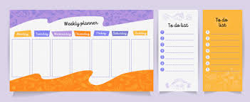 Cute Lists Set Of Planners And To Do Lists With Cute Dino Vector