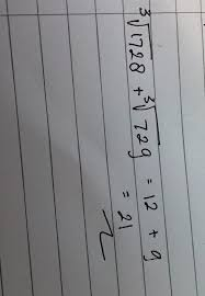 Jawaban yang benar untuk pertanyaan itu: Akar Pangkat 3 Dari 1728 Akar Pangkat 3 Dari 729 Brainly Co Id