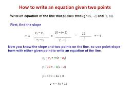 2 4 essential questions what is the point slope form ppt