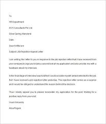 Sample Appeal Letter For Rejected Application
