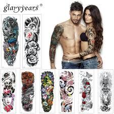 Glaryyears 1 Ks Velké Rameno Dočasné Tetování Nálepka Barevné