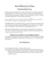 Examples Of A Reflective Essay Personal Reflective Sample Samples