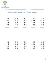 Adding Two Digit Numbers - 3rd Grade   Kids Activities