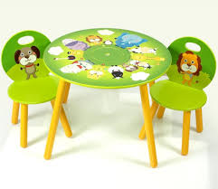childs table and chairs decor