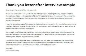 thank you letter after application thank you letter after interview sample appreciation letter