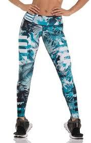 drakon blue palms leggings