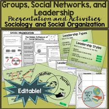 Sociology Groups Social Networks And Leadership Presentation And