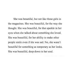 She Looks Beautiful Quotes