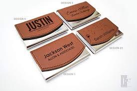 Amazoncom Personalized Leather Business Card Holder Custom