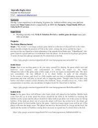 resume for unity game development. Vejendla Raghu kiran Mobile#  +91-9032310537 Email: - raghukiran57@gmail.