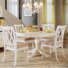Round Pedestal Kitchen Table Sets Roselawnlutheran With White Inside