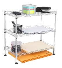 china mini 3 tier diy metal wire storage rack organizer shelving on office table china office file rack office table rack