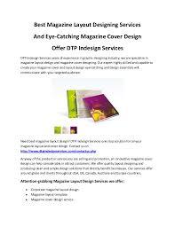 Best Magazine Layout Designing Services Eye Catching Magazine Cover