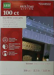 Holiday Time Cool White Led C9 Lights 100 Count Holiday Living Christmas 100 Count Cool And 13 Similar Items