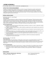 Manager Responsibilities Resume Job Resume Store Manager Resume