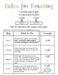 Rounding Rules Chart Rounding Rules Anchor Chart Worksheets Teaching Resources