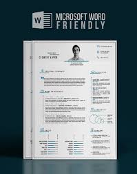Precise Blue Word Resume Template Free Design Resources