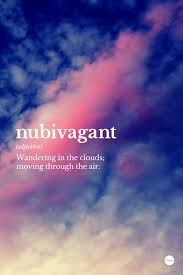 Cloud Quotes Impressive Nubivagant Wandering In The Clouds Moving Through The Air Design