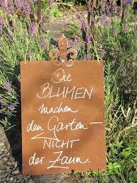 Edelrost Schild Mit Lilie Blumen Machen Den Garten Angels Garden