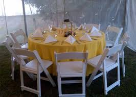 108 round linen on a 60 round table outside on grass