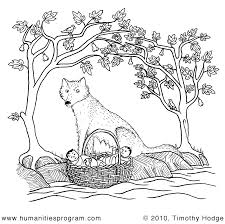 Romulus And Remus Coloring Page Week