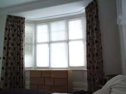 Bedroom Curtain Rod Bedroom Bay Window Curtains Free Image