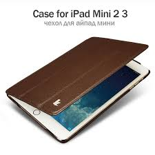 hot deal us 14 98 for jisoncase leather case for ipad mini 2 3 ultra thin stand design folding folio luxury brand smart cover for ipad mini 1 2 3 case
