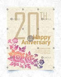 Creative Wedding Anniversary Card Design With Hand Drawn Style