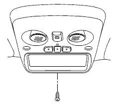 2001 gmt 800 overhead console with garage door opener