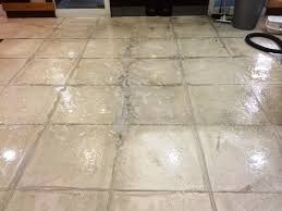 cleaning white porcelain tiles