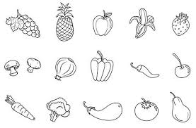 fruit and vegetables black and white. Fruit And Veggies Clip Art Black White Google Search Vegetables