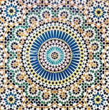 Traditional Moroccan Mosaic tiled wall