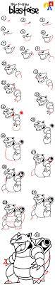 How To Draw Blastoise From Pokemon