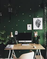 home office green themes decorating. beautiful office green wall and wood desk  work space home office with home office themes decorating t