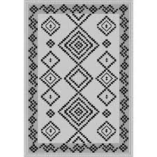 sunshine collection grey black 5 ft x 8 ft outdoor patio area rug