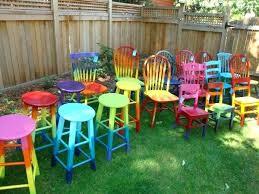 Outdoor Furniture Painted Candy Summer Garden Furniture Outdoor
