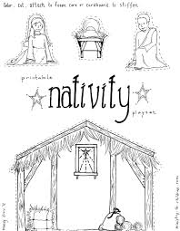 Nativity Coloring Pages Printable Free Easy Christmas With Bible