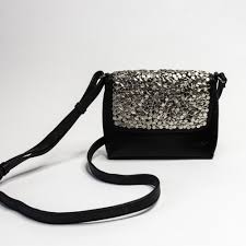 haley studded leather cross bag in black